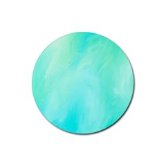 Blue Green Shades Rubber Coaster (round)