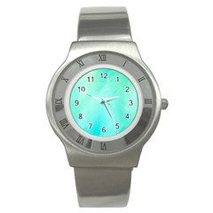 Blue Green Shades Stainless Steel Watch by designsbymallika