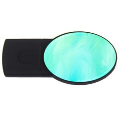 Blue Green Shades Usb Flash Drive Oval (4 Gb) by designsbymallika