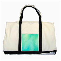 Blue Green Shades Two Tone Tote Bag by designsbymallika