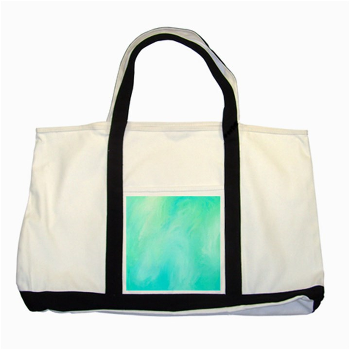 Blue Green Shades Two Tone Tote Bag