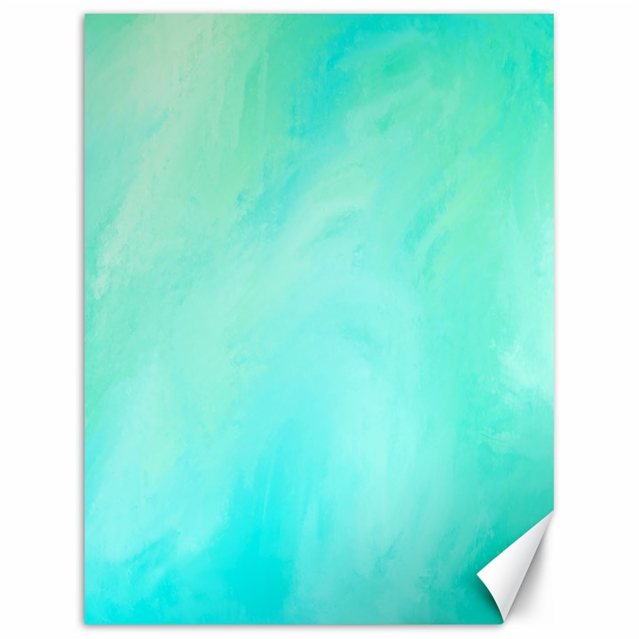 Blue Green Shades Canvas 18  x 24
