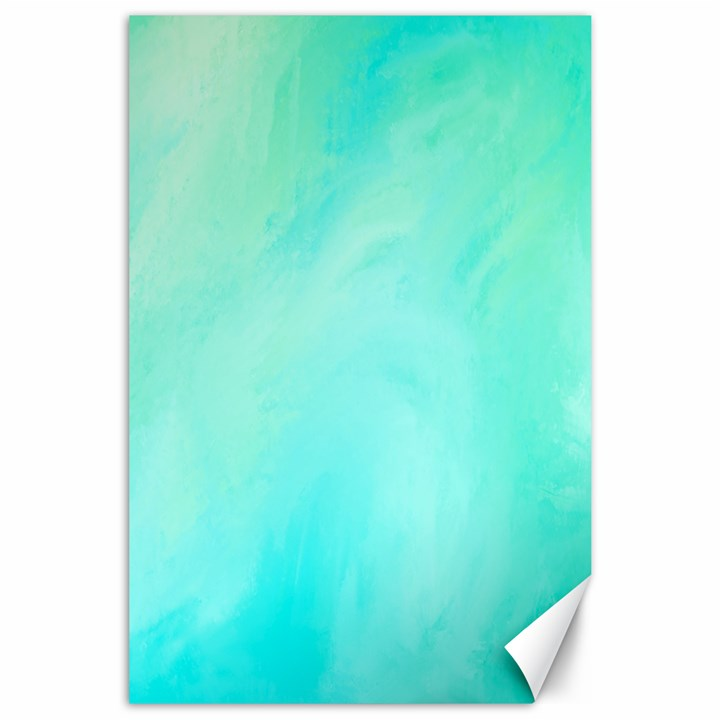 Blue Green Shades Canvas 24  x 36