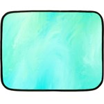 Blue Green Shades Double Sided Fleece Blanket (Mini)  35 x27  Blanket Front