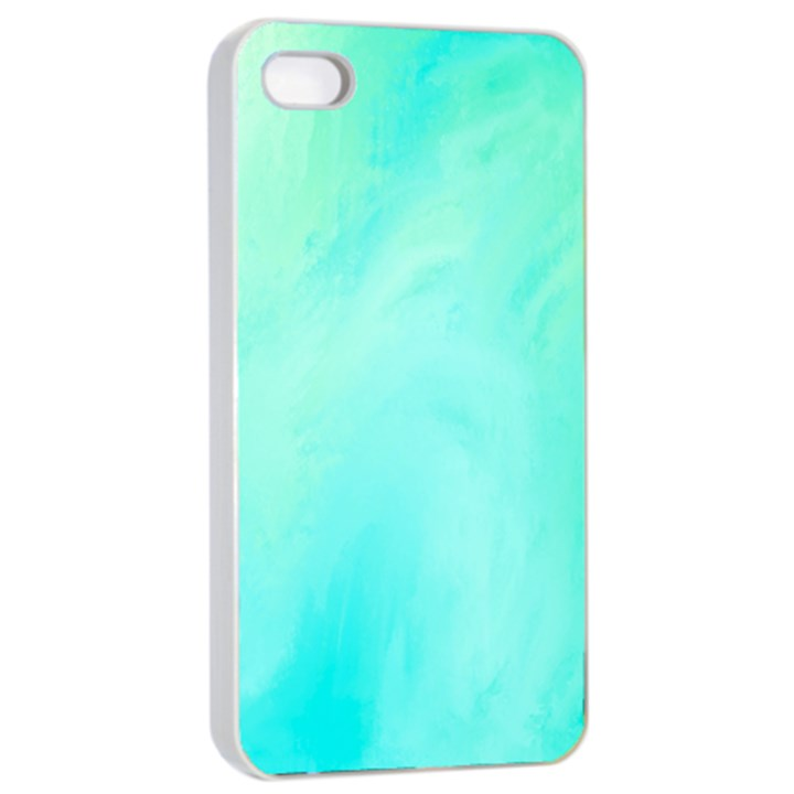 Blue Green Shades iPhone 4/4s Seamless Case (White)