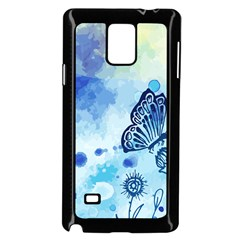 Blue Shaded Design Samsung Galaxy Note 4 Case (black) by designsbymallika