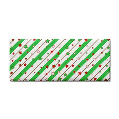 Christmas Paper Stars Pattern Texture Background Colorful Colors Seamless Copy Hand Towel