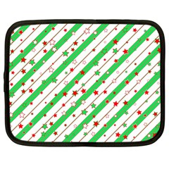 Christmas Paper Stars Pattern Texture Background Colorful Colors Seamless Copy Netbook Case (xl)