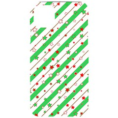 Christmas Paper Stars Pattern Texture Background Colorful Colors Seamless Copy Iphone 11 Pro Max Black Uv Print Case