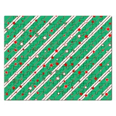 Christmas Paper Stars Pattern Texture Background Rectangular Jigsaw Puzzl by Vaneshart