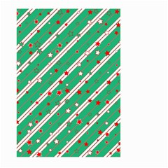 Christmas Paper Stars Pattern Texture Background Large Garden Flag (two Sides)