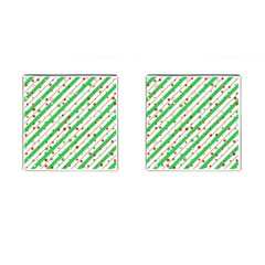 Christmas Paper Stars Pattern Texture Background Colorful Colors Seamless Cufflinks (square)