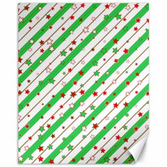 Christmas Paper Stars Pattern Texture Background Colorful Colors Seamless Canvas 11  X 14