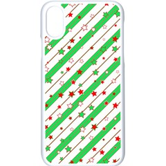 Christmas Paper Stars Pattern Texture Background Colorful Colors Seamless Iphone Xs Seamless Case (white)