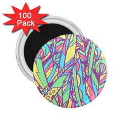 Feathers Pattern 2 25  Magnets (100 Pack)  by Sobalvarro