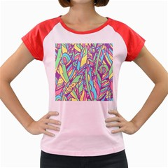 Feathers Pattern Women s Cap Sleeve T-shirt by Sobalvarro