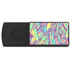Feathers Pattern Rectangular Usb Flash Drive by Sobalvarro