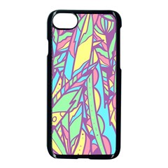 Feathers Pattern Iphone 7 Seamless Case (black) by Sobalvarro