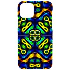 Pattern Geometric Glow Colors Lines Seamless Iphone 11 Pro Black Uv Print Case
