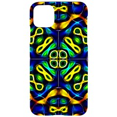 Pattern Geometric Glow Colors Lines Seamless Iphone 11 Pro Max Black Uv Print Case