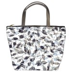 Leaves Pattern Colors Nature Design Bucket Bag Front