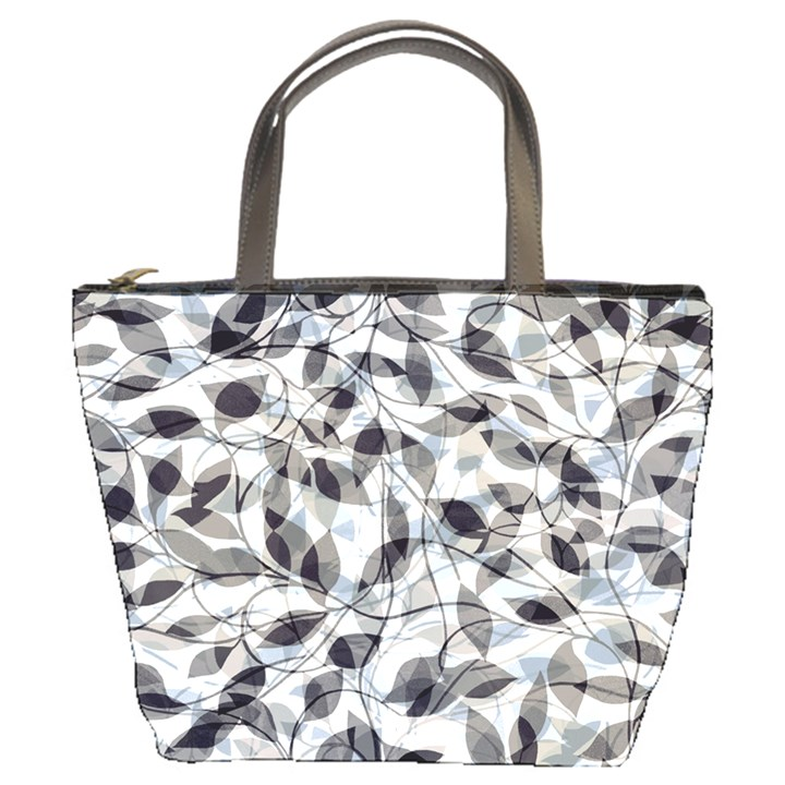 Leaves Pattern Colors Nature Design Bucket Bag
