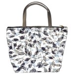 Leaves Pattern Colors Nature Design Bucket Bag Back