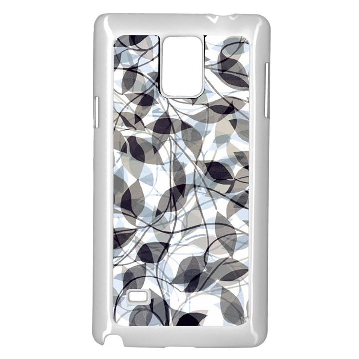Leaves Pattern Colors Nature Design Samsung Galaxy Note 4 Case (White)