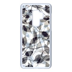 Leaves Pattern Colors Nature Design Samsung Galaxy S9 Plus Seamless Case(white)