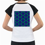 Seamless Pattern Pattern Purple Stars Women s Cap Sleeve T Back