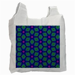 Seamless Pattern Pattern Purple Stars Recycle Bag (two Side)