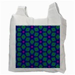 Seamless Pattern Pattern Purple Stars Recycle Bag (Two Side) Back