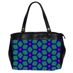 Seamless Pattern Pattern Purple Stars Oversize Office Handbag (2 Sides)