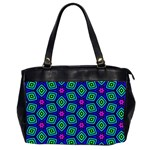 Seamless Pattern Pattern Purple Stars Oversize Office Handbag (2 Sides) Front