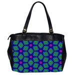Seamless Pattern Pattern Purple Stars Oversize Office Handbag (2 Sides) Back