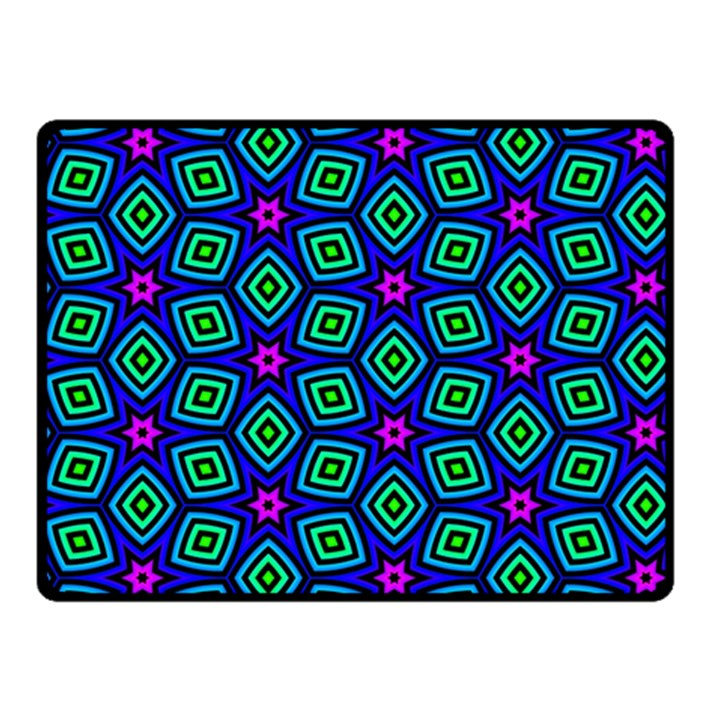 Seamless Pattern Pattern Purple Stars Double Sided Fleece Blanket (Small)
