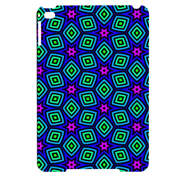 Seamless Pattern Pattern Purple Stars Apple iPad Mini 4 Black UV Print Case