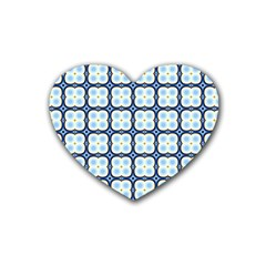Pattern Design Art Scrapbooking Geometric Cubes Heart Coaster (4 Pack)  by Vaneshart