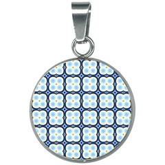 Pattern Design Art Scrapbooking Geometric Cubes 20mm Round Necklace by Vaneshart