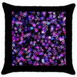 Christmas Paper Star Texture Throw Pillow Case (Black) Front