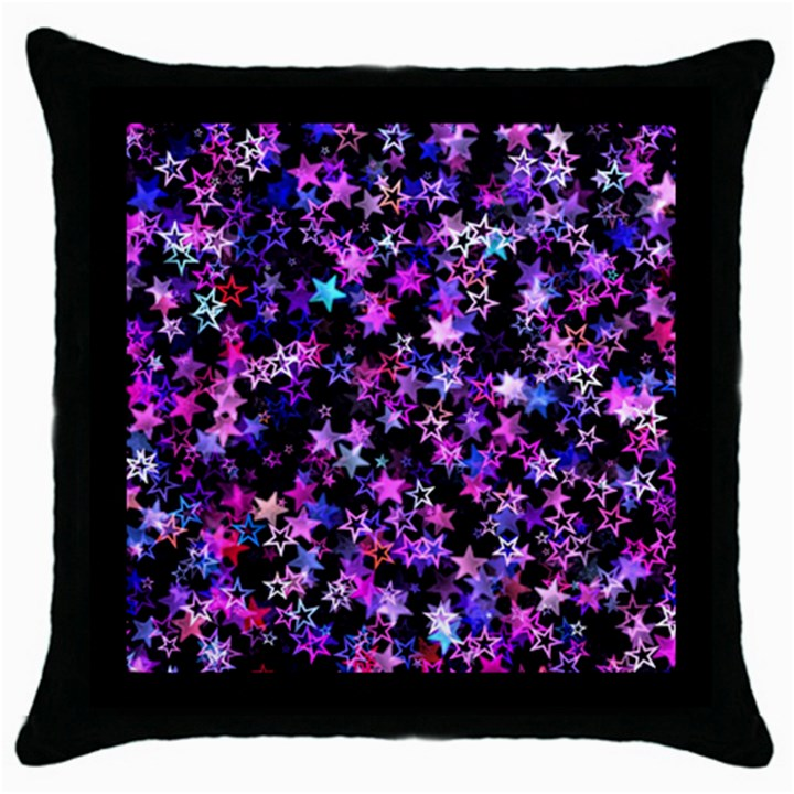 Christmas Paper Star Texture Throw Pillow Case (Black)