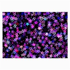 Christmas Paper Star Texture Large Glasses Cloth (2 Sides)