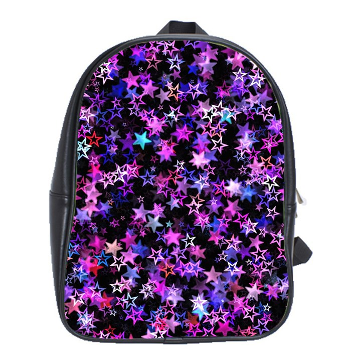 Christmas Paper Star Texture School Bag (XL)