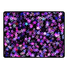 Christmas Paper Star Texture Double Sided Fleece Blanket (small)