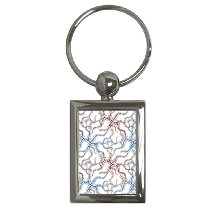 Pearl Pattern Floral Design Art Digital Seamless Key Chain (Rectangle)