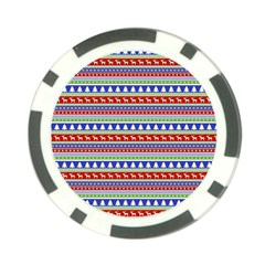 Christmas Color Stripes Pattern Poker Chip Card Guard