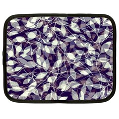 Leaves Pattern Colors Nature Design Netbook Case (large) by Vaneshart