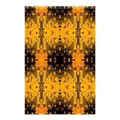 Pattern Wallpaper Background Yellow Amber Black Shower Curtain 48  X 72  (small)