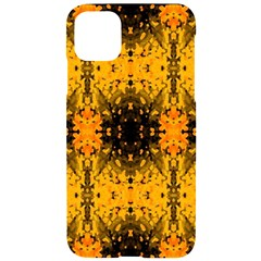 Pattern Wallpaper Background Yellow Amber Black Iphone 11 Pro Max Black Uv Print Case