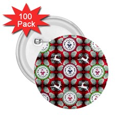 Christmas Happy Holidayw 2 25  Buttons (100 Pack)